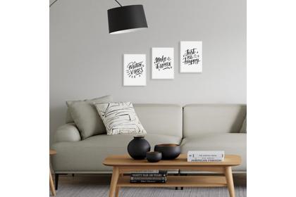 Minimalist Wall Art A4 Canvas Frame Dekorasi dinding Typo Design Text