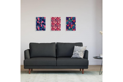 Minimalist Wall Art A4 Canvas Frame Dekorasi dinding Bunga Flora Flower 1